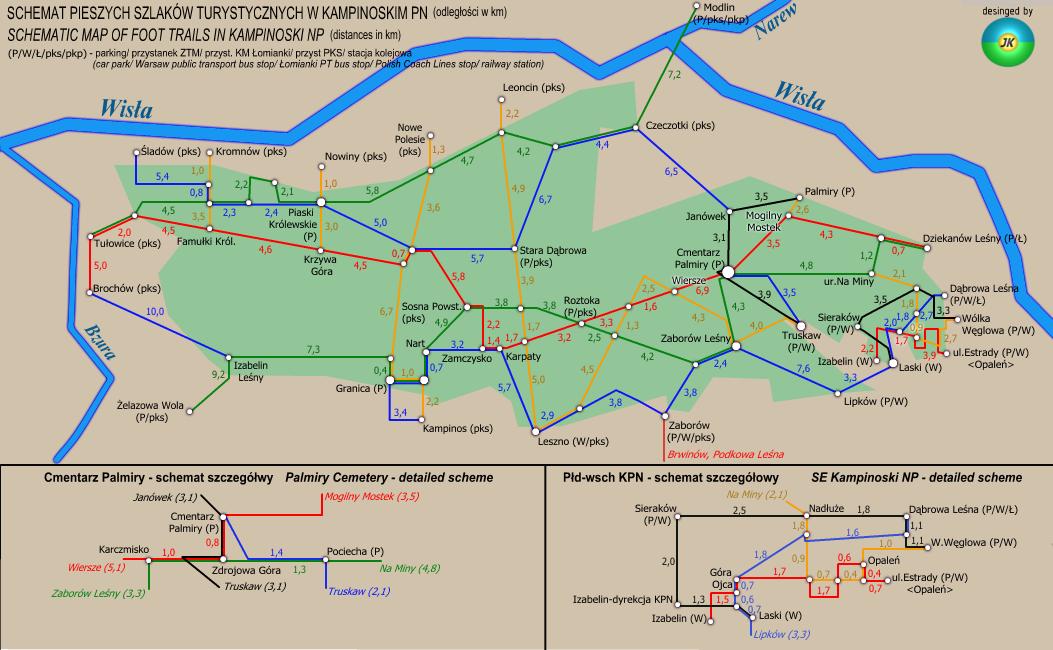 kampinoski_park_narodowy_mapa_szlak_pieszy_warszawa
